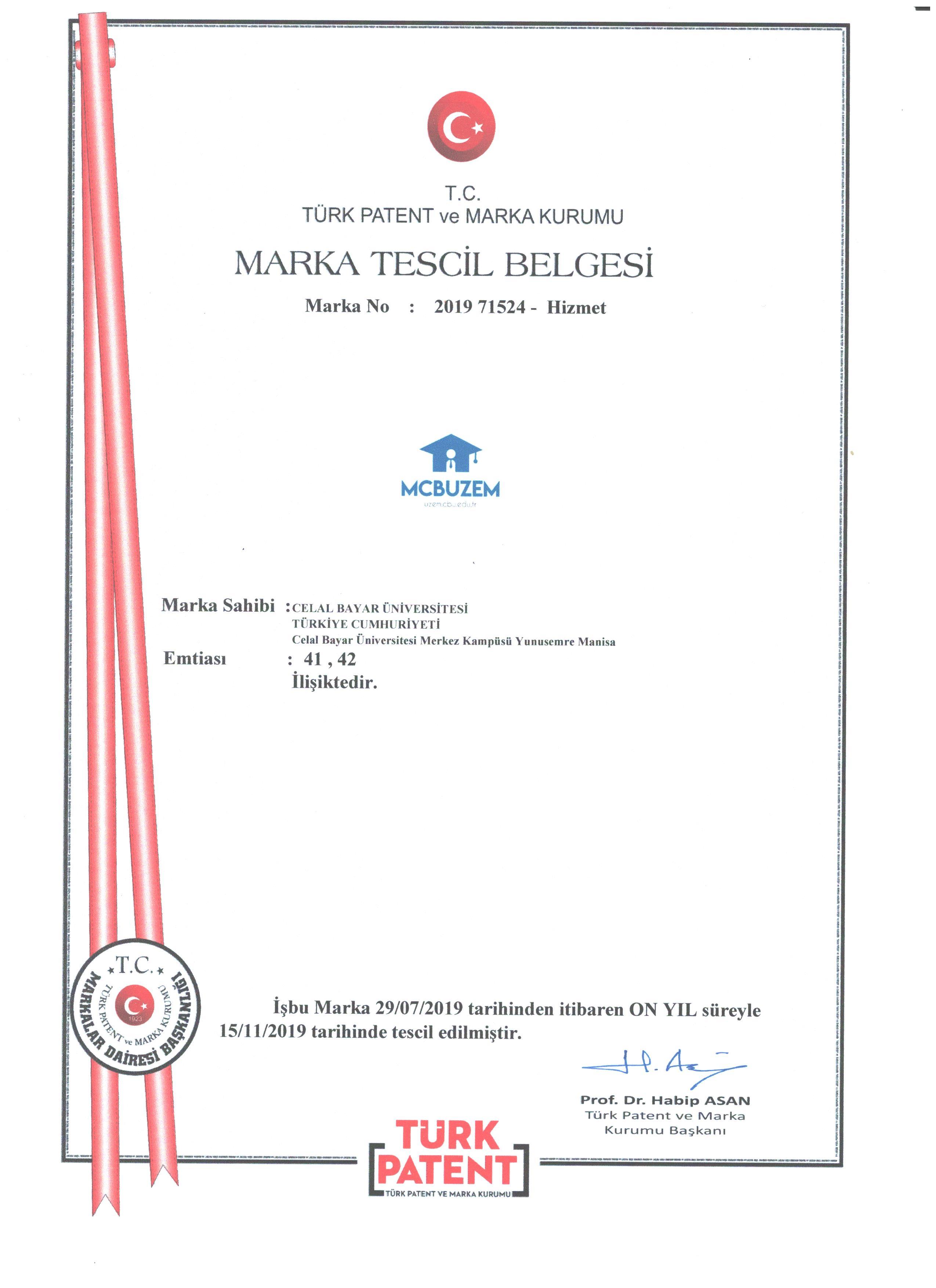 Marka Tescili - UZEM
